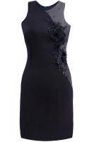 MELİH YAZGAN Transparan Detaylı Elbise