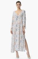 Uzun Etnik Desenli Elbise